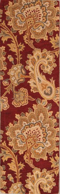 Paisley Red  Oriental Area Rug