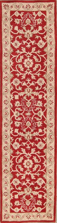 All-Over Floral Red Oushak Agra Oriental Area Rug
