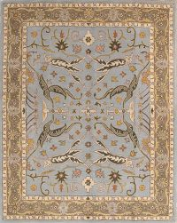 All-Over Oushak Agra Indian Oriental Area Rug
