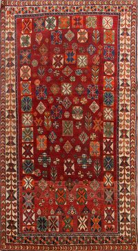 Pre-1900 Vegetable Dye Tribal 5x8 Lori Shiraz Persian Area Rug