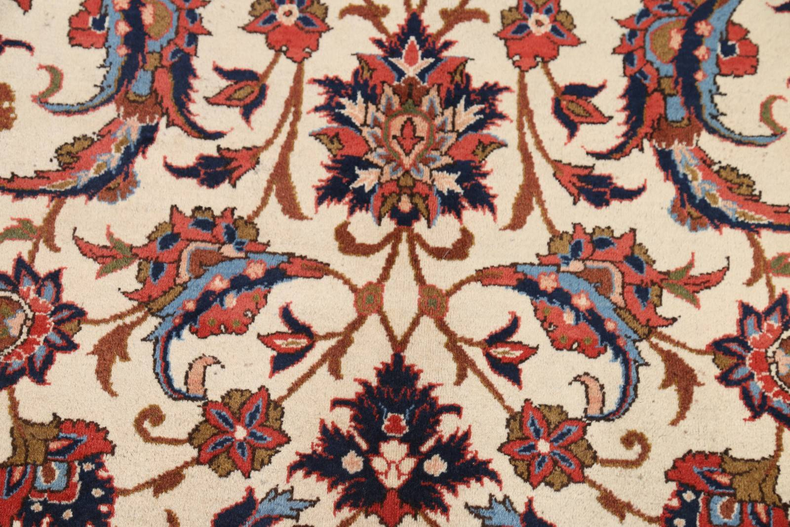 All-Over Floral 8x12 Isfahan Persian Area Rug