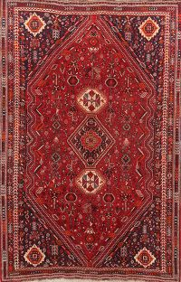 Pre-1900 Antique Tribal 6x9 Lori Shiraz Persian Area Rug