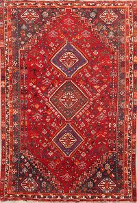 Geometric Tribal 5x8 Abade Nafar Shiraz Persian Area Rug