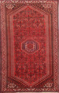 Pre-1900 Antique Tribal Nomad 5x8 Lori Shiraz Persian Area Rug