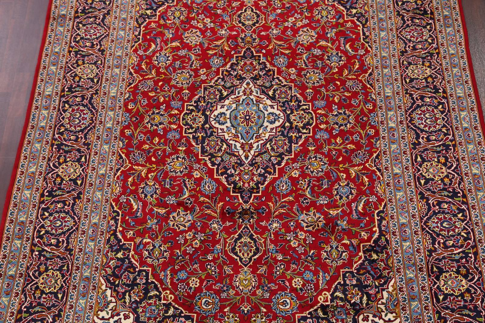 Traditional Floral 8x12 Kashan Persian Area Rug