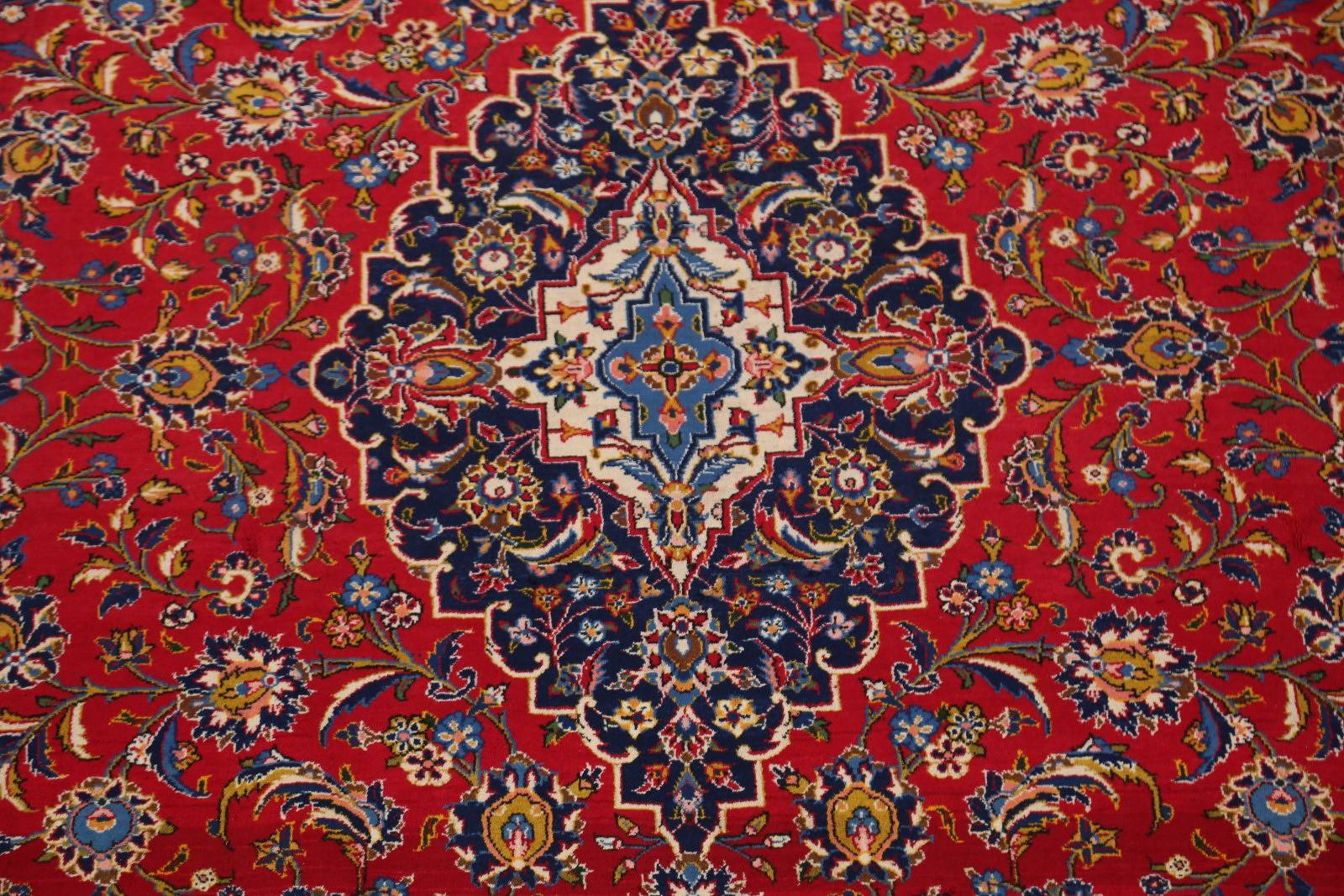 Traditional Floral 9x13 Kashan Persian Area Rug