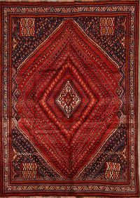 7x10 Shiraz Kashkoli Persian Area Rug