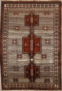 7x10 Gabbeh Shiraz Persian Area Rug