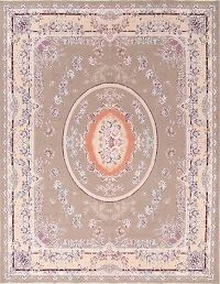Soft Plush Floral Brown Tabriz Persian Hand-Knotted Area Rug 10x13