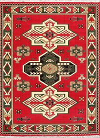 Soft Plush 10×13 Ardebil Kazak Machine Made Persian Area Rug