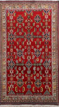 Geometric 5x8 Kashkoli Shiraz Persian Area Rug