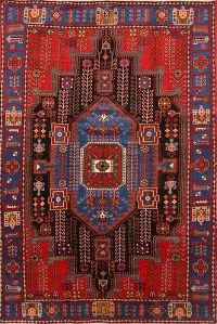 Tribal Geometric Nahavand Hamedan Persian Area Rug 5x7