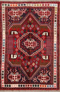 3x5 Red Shiraz Persian Area Rug