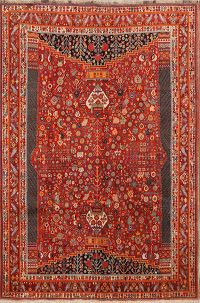Geometric 7x10 Kashkoli Shiraz Persian Area Rug