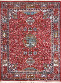 Dynasty Pictorial Kashmar Machine Made Persian Area Rug 10x13
