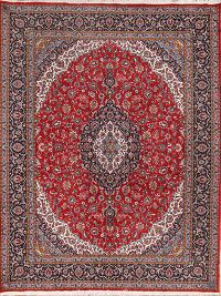 Soft Plush 10x13 Kashan Machine Made Persian Area Rug