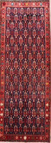 All-Over Paisley Design 4x11 Hamedan Persian Rug Runner