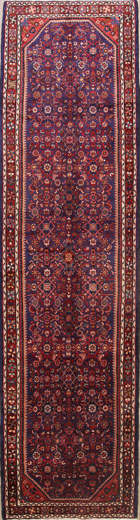All-Over Floral 4x14 Hamedan Persian Rug Runner