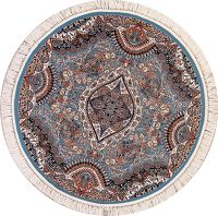 Light Blue Round 6x6 Tabriz Persian Area Rug
