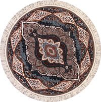 Soft Pile Round 6x6 Tabriz Persian Area Rug