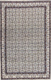 All-Over Pattern Floral 7x11 Mood Mashad Persian Area Rug