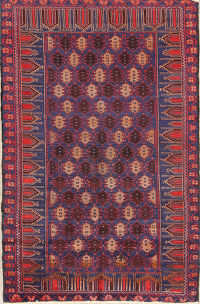 Geometric Tribal Foyer Size 3x5  Balouch Persian Area Rug