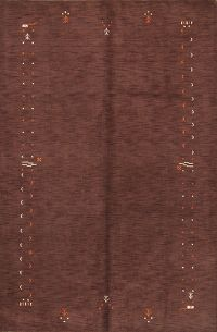 Abstract Modern 7x10 Gabbeh Indian Oriental Area Rug