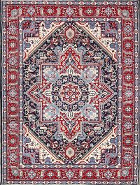 Soft Plush Geometric 6x10 Heriz Persian Area Rug
