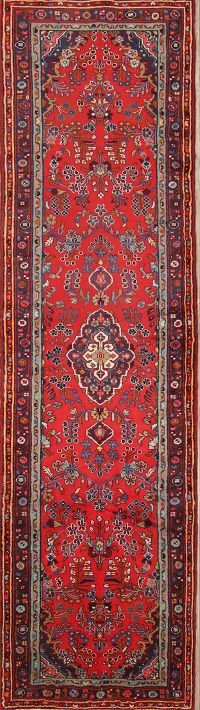 Floral 4x14 Malayer Persian Rug Runner