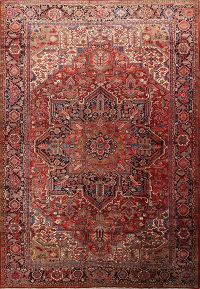 Vegetable Dye 12x16 Heriz Serapi Persian Area Rug