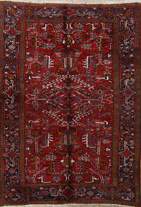 All-Over Pattern Red 6x8 Heriz Persian Area Rug