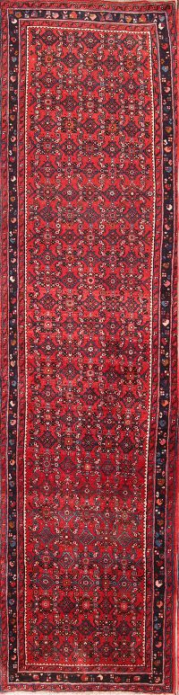 All Over Geometric 3x14 Hossainabad Hamadna Persian Rug Runner
