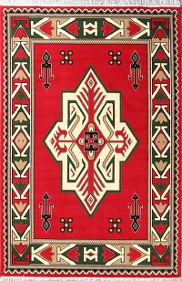 Soft Plush 7x10 Kazak Persian Area Rug