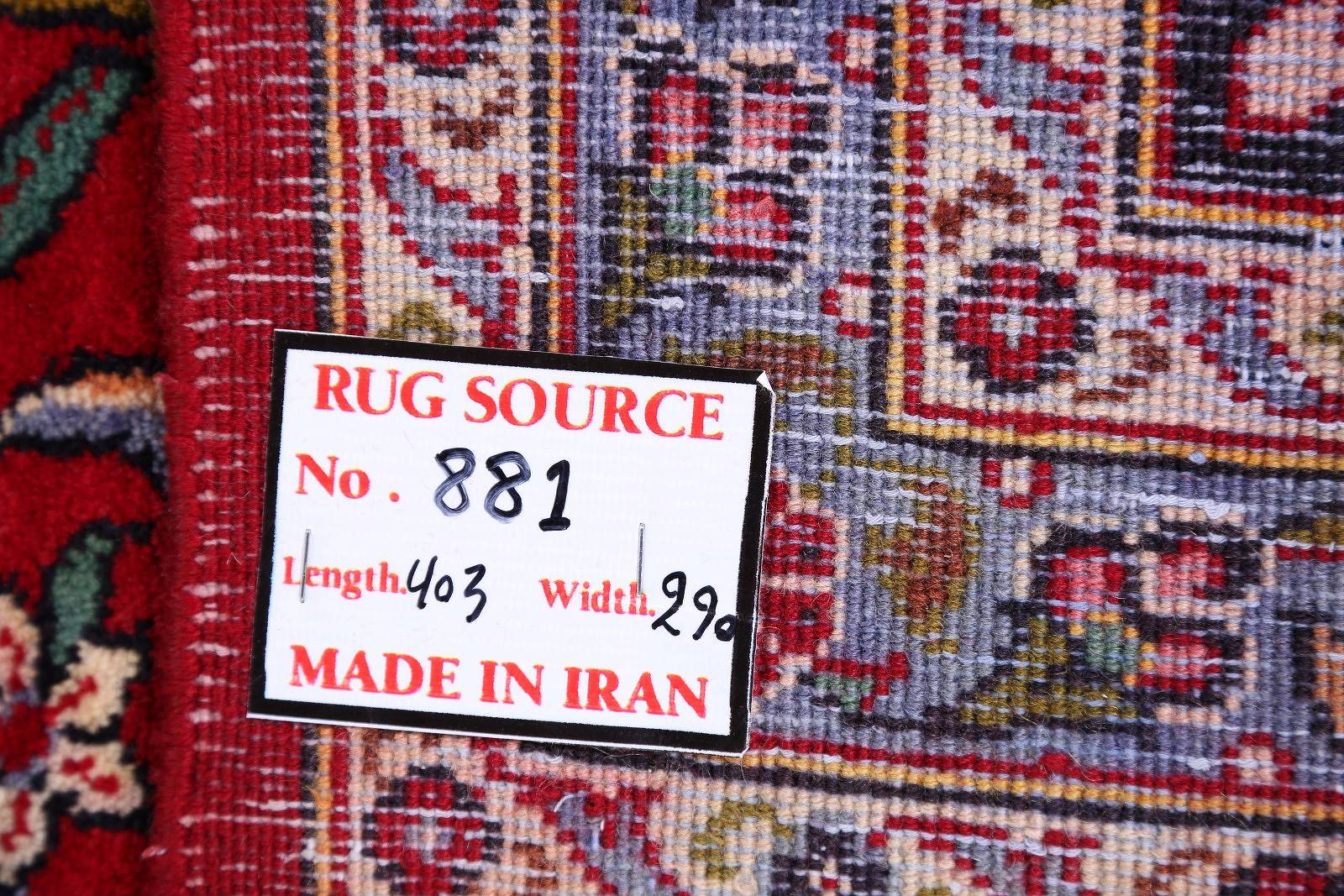 Floral Red 9x13 Kashan Persian Area Rug