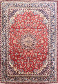 Floral 10x14 Isfahan Persian Area Rug