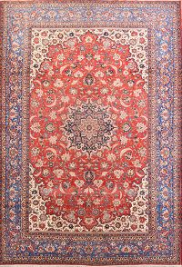 Floral 11x16 Isfahan Vegetable Dye Persian Area Rug