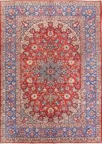 Floral 9x12 Isfahan Vegetable Dye Persian Area Rug