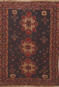 Animal Pictorial 4x6 Sumak Sirjan Kilim Persian Area Rug