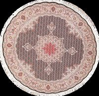 Geometric Tabriz Fish Design Persian Round Rug 7x7