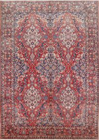 All-Over Floral 10x14 Bakhtiari Persian  Area Rug
