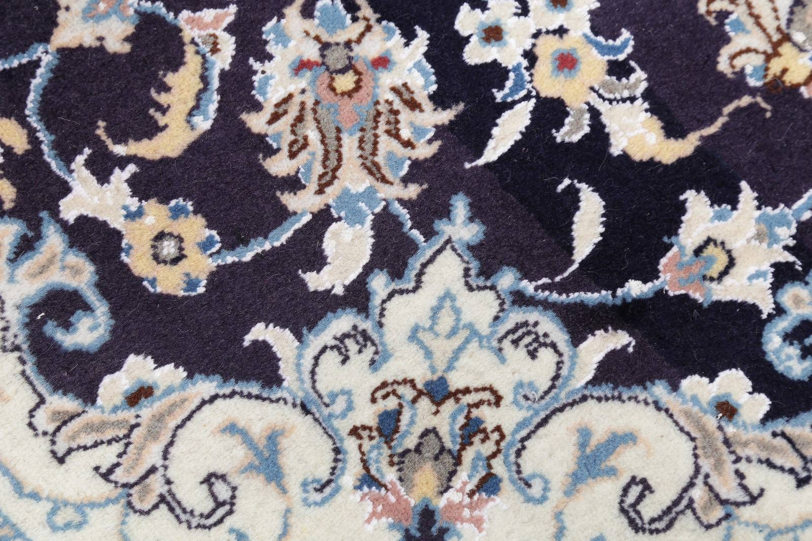 Floral Wool/Silk 5x6 Nain Persian Area Rug