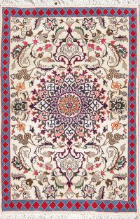 Floral Ivory Foyer Size 3x4 Kashmar Persian Area Rug