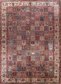 Geometric Checked 12x17 Bakhtiari Persian Area Rug