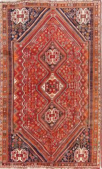 Geometric Tribal 6x9 Shiraz Kashkoli Persian Area Rug