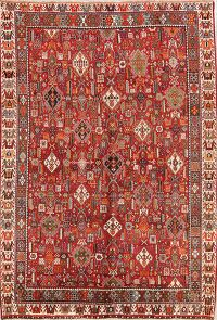 Vegetable Dye Tribal 7x10 Kashkoli Shiraz Persian Area Rug