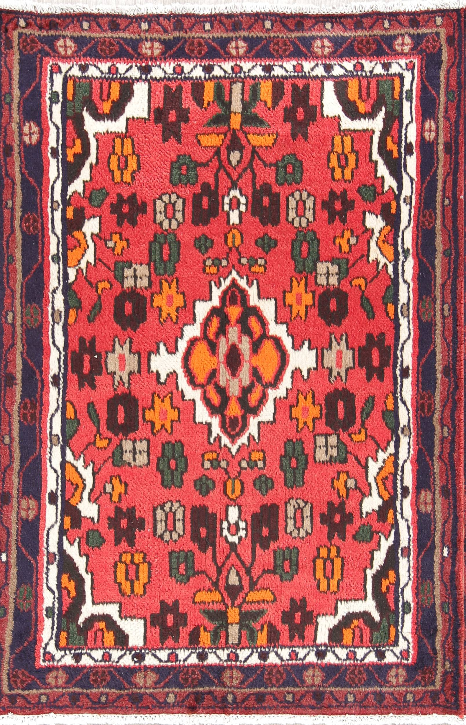 Floral Foyer Size 3x5 Hamedan Persian Area Rug
