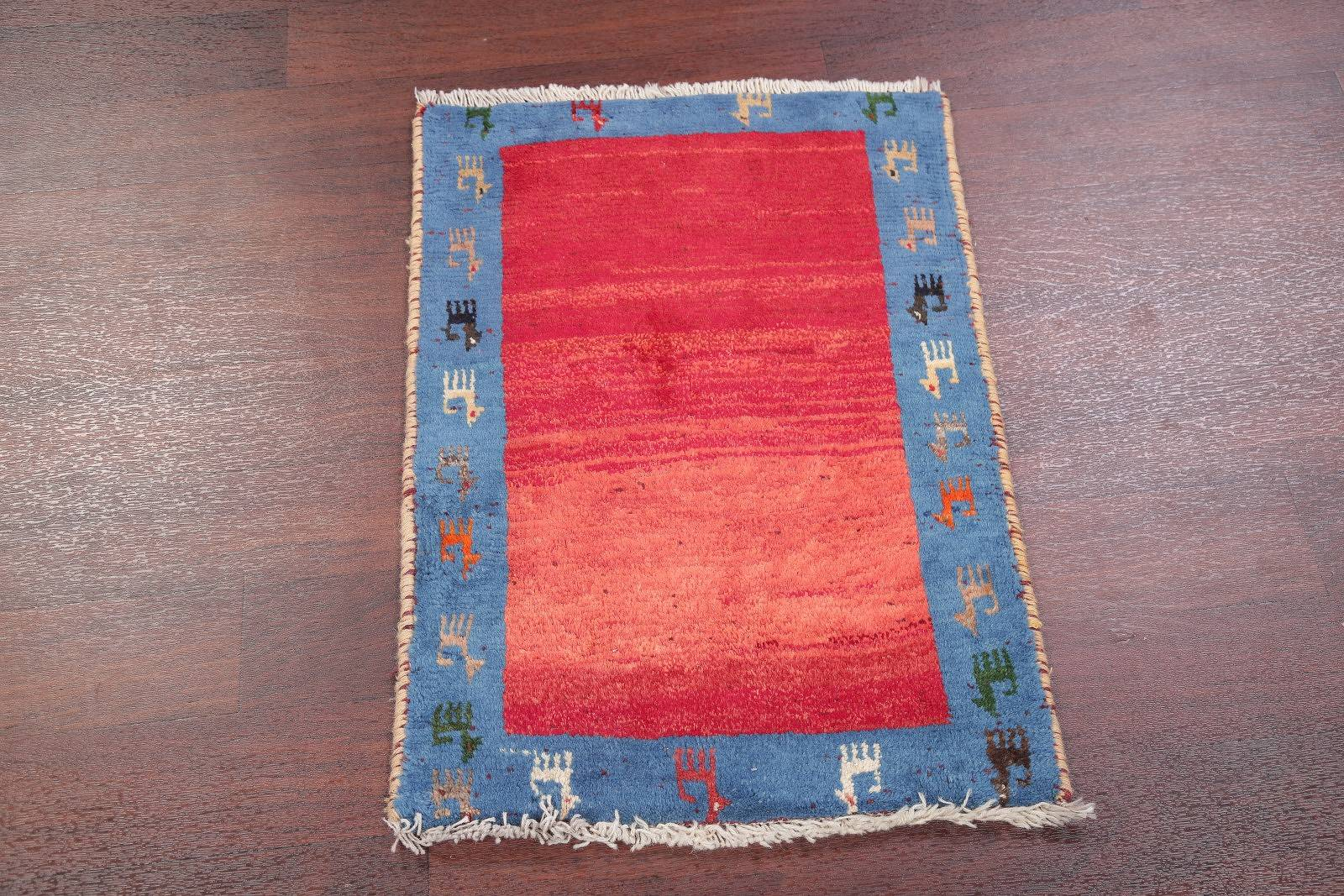 Little Animals Tribal 2x3 Gabbeh Shiraz Persian Area Rug