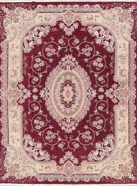 Plush Red Traditional 10x13 Tabriz Persian Area Rug