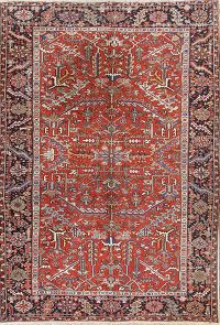 Geometric All-Over Heriz Serapi Persian Area Rug 8x11