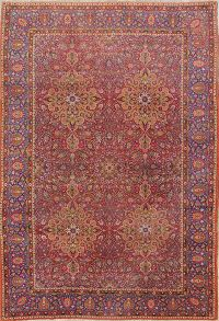 All-Over Floral 11x16 Mashad Persian Area Rug